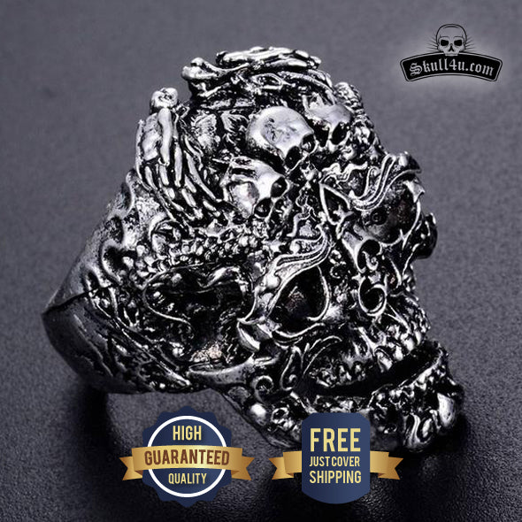 Skull Ring Skeleton