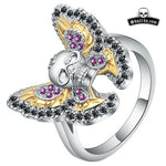 Ring Skull with Butterfly For Women