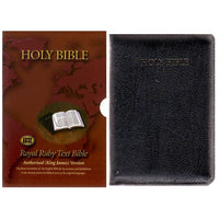 31UTZ  KJV Royal Ruby Text Bible, Black Calfskin leather, Thumb index and Zip