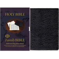 9U Large Type Family Bible Register Black Calfskin KJV (9CFR)