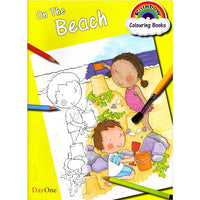 On the Beach - Colouring Book