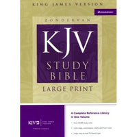 Large Print KJV Study Bible Burgundy Bonded Leather