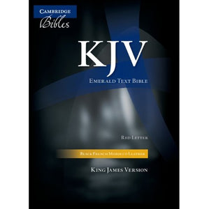 KJV Emerald Text Edition Black (French Morocco Leather KJ533:TR)