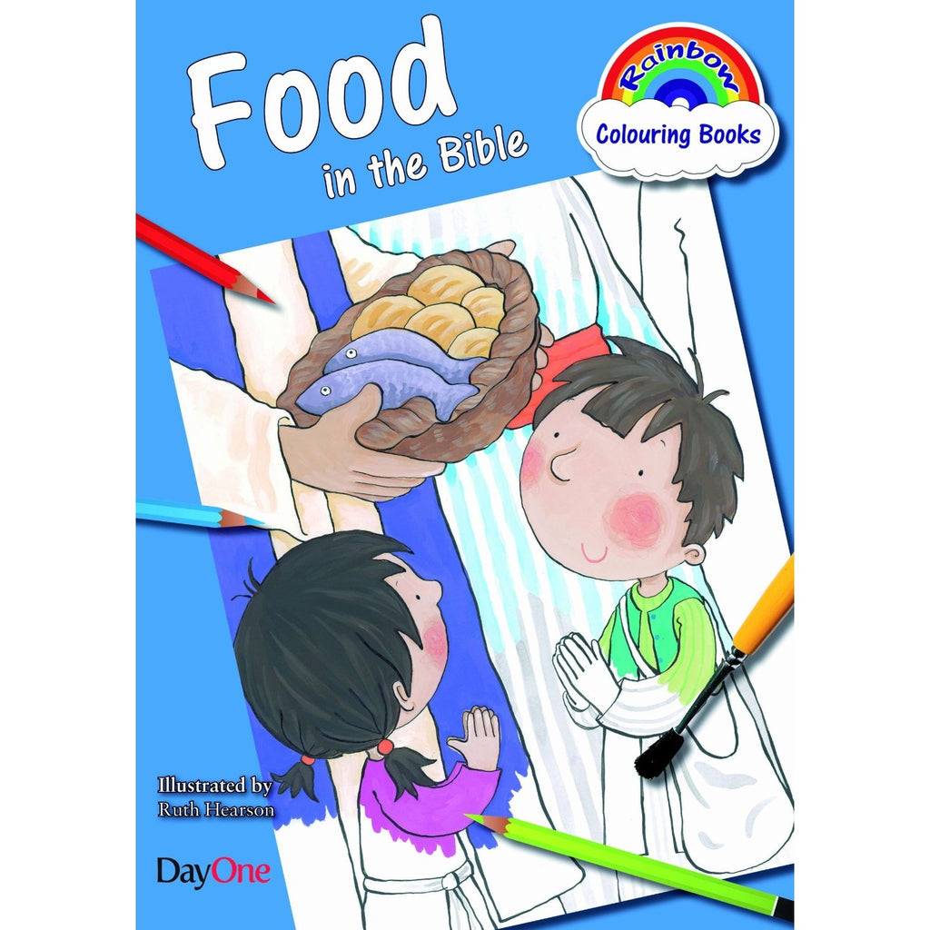 Food in the Bible - Rainbow Colouring Books