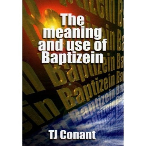 The Meaning and Use of Baptizein