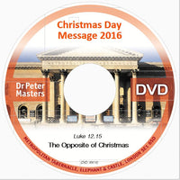 Christmas message DVD