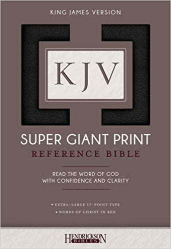 KJV Super Giant Print Ref Bible