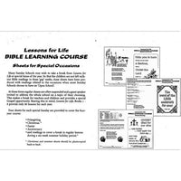 Lessons for Life Bible Learning Course Sheets for Special Occasions