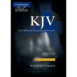 KJV Pitt Minion Reference Edition KJ442, X black imitation leather