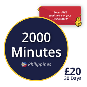 2000 minutes to call the Philippines with Udial's Smart 1P Bundle
