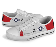 "P-51C ""Little Florence"" of Lt Col Leo Gray Low Top Canvas Shoes"