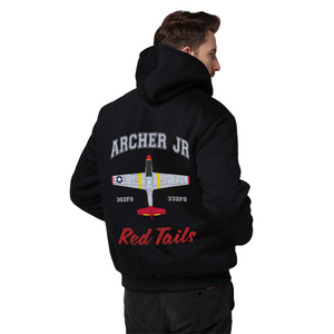 Tuskegee Airman Sherpa Lined Hoodie -  Ina The Macon Belle