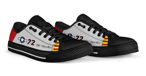 "P-51C ""Ina The Macon Belle"" of Lt. Col. Lee Archer Jr Low Top Canvas Shoes"