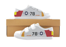 "P-51B ""Kitten"" of Brigadier General Charles McGee Low Top Canvas Shoes - FOR KIDS!"