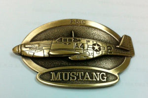 P-51C Mustang hat with brass emblem