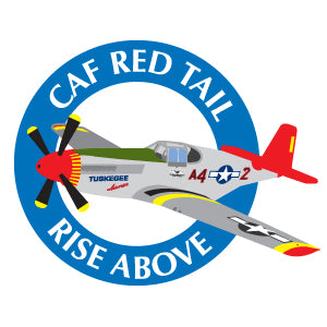 CAF Red Tail Squadron RISE ABOVE Lapel Pin