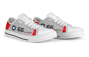 "P-51C ""By ReQuest"" of General Benjamin Davis Jr Inspired Low Top Canvas Shoes"