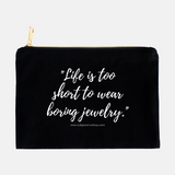 TCB Jewelry Quote Cosmetic Bag
