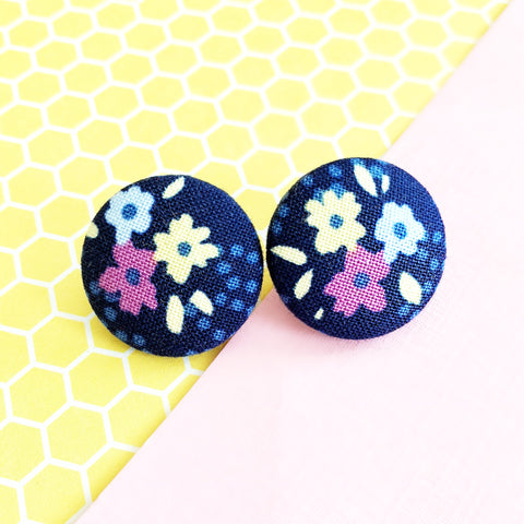 Flower Print Earrings