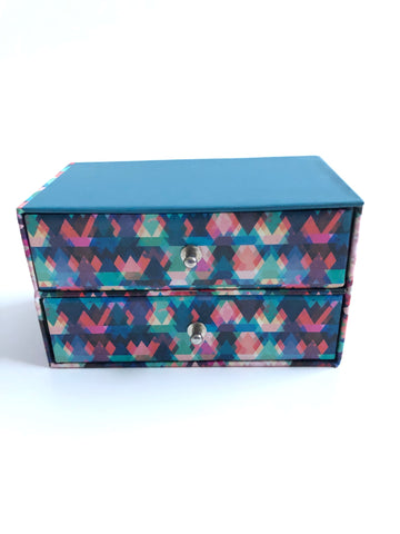 Small Abstract Print Jewelry Box