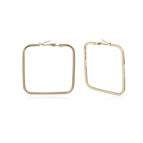 Square Gold Hoops