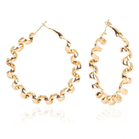 Gold Cord Hoops