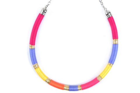 Pink/ purple/ yellow/ orange - BASIC BY ZENA.DYETE necklace
