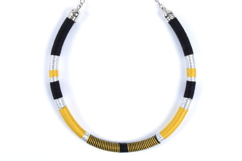 Black/silver/mustard yellow - BASIC BY ZENA.DYETE necklace