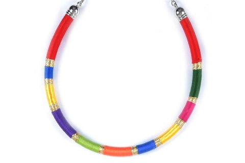 Green/ red/ orange / blue/ purple - BASIC BY ZENA.DYETE necklace