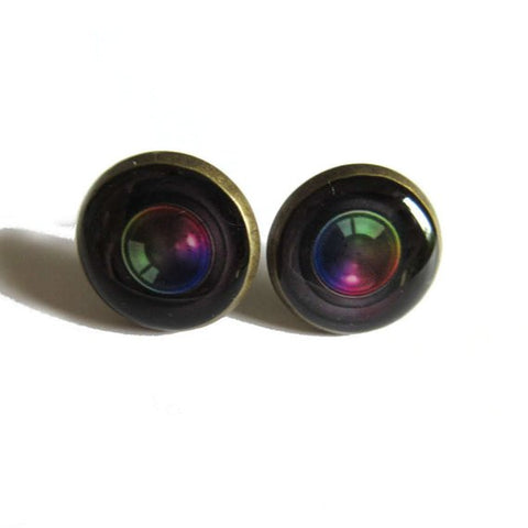Camera Lens Earrings
