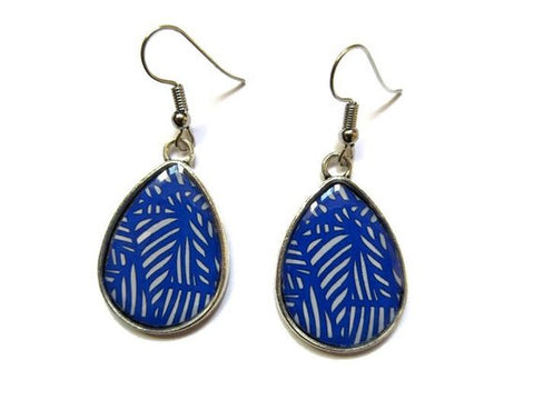 Abstract Teardrop Earrings