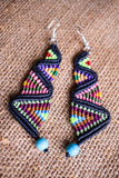 Micro Macrame Dangle Cavandoli Earrings
