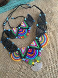 Macrame Hippie Style Necklace & Bracelet Set