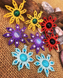 Colorful Macrame Beaded Flowers