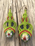 Vintage Macrame Elegant Earrings