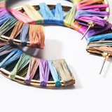 Colorful Woven Circle Hoops