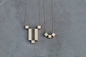 Long Cubic Necklace