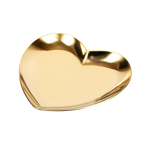 Heart Shaped Metal Jewelry Storage Tray