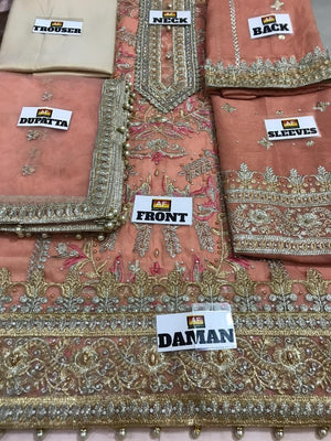 Atif Riaz Mysori Suit Replica Suits Atif Riaz