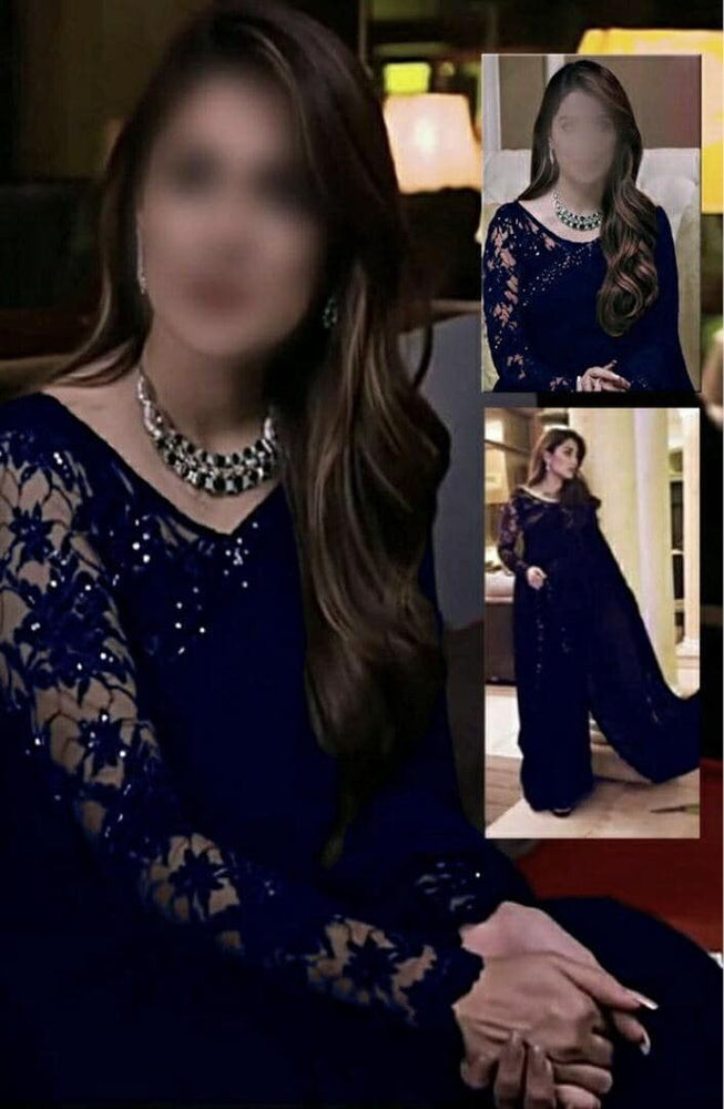 [Ayeza Khan Chiffon Saaree] | Replica Zone.
