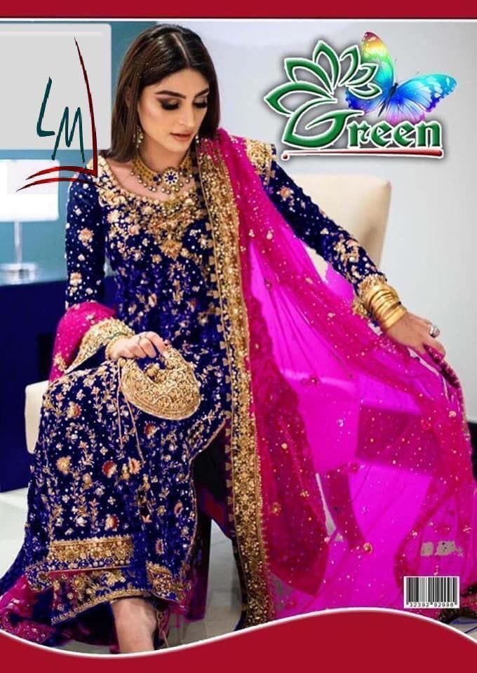 [Emaan Khan Chiffon Bridal Suit] | Replica Zone.