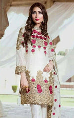 Emb Royal Chiffon Suit