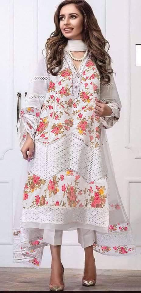 [Farida Hassan Lawn Suit] | Replica Zone.