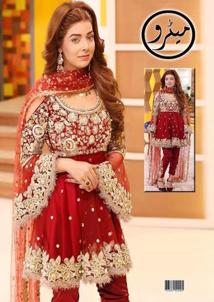 Kashee Chiffon Bridal Suits Bridal Suits Kashee's Red