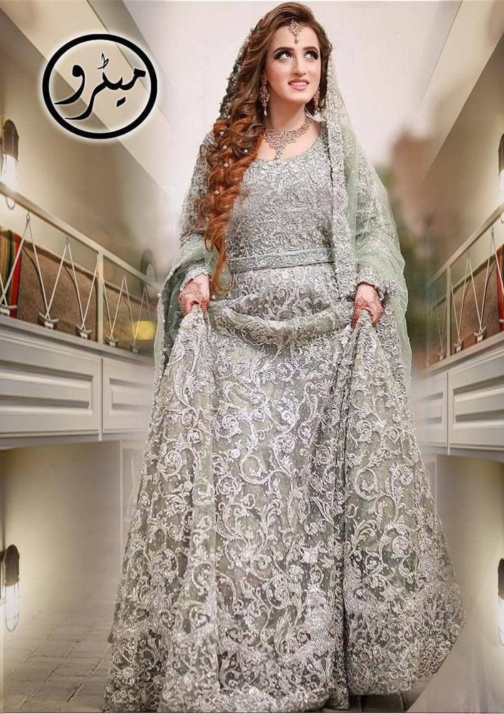 [Umbreen Ibrahim Net Bridal Suit] | Replica Zone.
