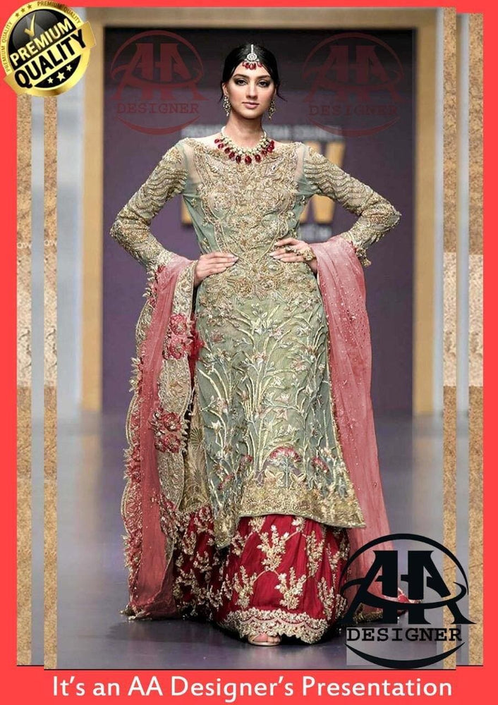 Mina Hasan Net Bridal Suit