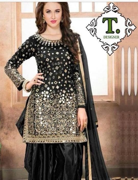 Net Embroidered Suit Replica Suits Replica Zone Free Size Black Net