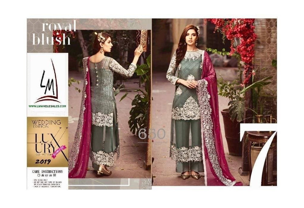 Serene Chiffon Suit Replica Suits Serene