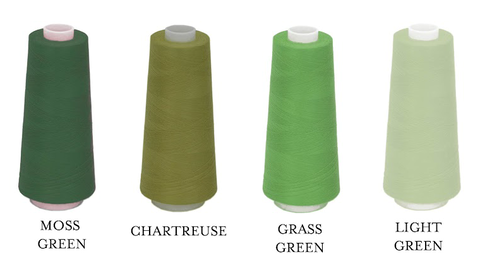 Embroidery Thread Color Greens