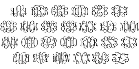 Interlocking Vine Engraving Font